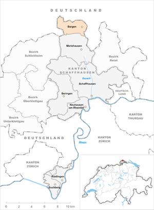 Bargen, Schaffhausen - Image: Karte Gemeinde Bargen SH 2013