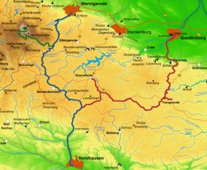 Mountainbike-ruter med mest singletrack i Harzen *