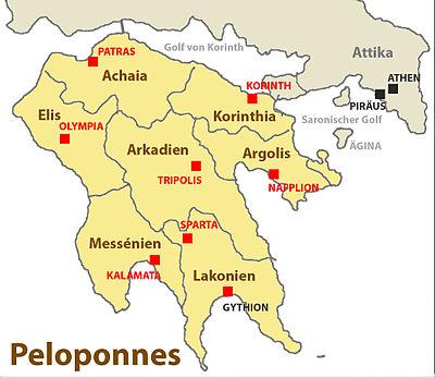 Karte Griechenland Peloponnes.Peloponnes Reisefuhrer Auf Wikivoyage