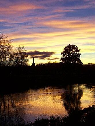 Kegworth - Kegworth sunset from the Soar Bridge
