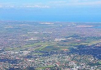 Kenilworth, Cape Town - Image: Kenilworth Racecourse viewed from Devils Peak CT
