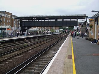 Kensington (Olympia) station - Southbound view from Platform 2