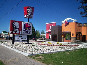 Taco Bell - A co-branded KFC-Taco Bell in Oscoda, Michigan