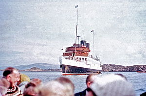 TS King George V - View from tender in 1970, when anchored off Iona.