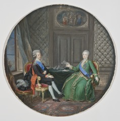 King Gustavus III and Catherine II of Russia in Fredrikshamn 1783