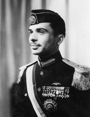 Hussein of Jordan - King Hussein in royal ceremonial dress, 1953