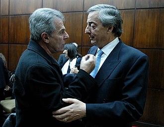 Víctor Laplace - Víctor Laplace (left) and President Néstor Kirchner, 2007.