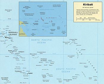 Map of Kiribati