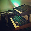 Kitchen jamz, like the old days - Wersi Bass Synth, ARP Odyssey, SCI Prophet-5, Moog Opus 3, Korg Rhythm 55 (KR-55) (by Chuck Sipperley).jpg