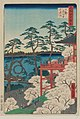 Kiyomizu Hall and Shinobazu Pond at Ueno, from the series One Hundred Famous Views of Edo, MFAB 11.26340.jpg