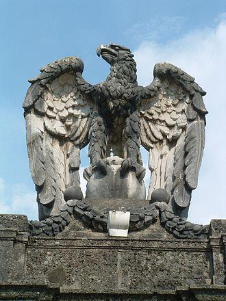 Schloss Klessheim - Eagle added after 1938