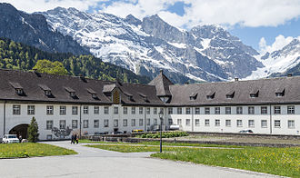 Engelberg Abbey - In the courtyard of Engelberg Abbey