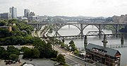 Southeastern view of Knoxville.
