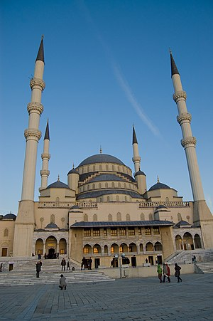 Islam in Turkey - Kocatepe Mosque, Ankara.