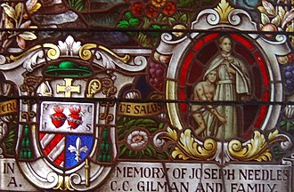 Roman Catholic Bishop of Honolulu - Bishop Herman Koeckemann was the second Vicar Apostolic of the Hawaiian Islands.  His coat-of-arms and an image of Blessed Damien of Moloka'i adorn the Cathedral of Our Lady of Peace.