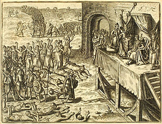 Angola - An illustration depicting Portuguese encounter with Kongo Royal family.