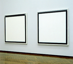 Jo Baer - Right: Korean (1963). Left: Korean (1962).