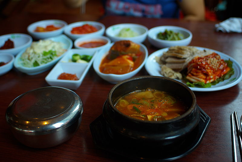File:Korean cuisine-Doenjang jjigae and banchan.jpg