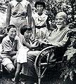 Korekiyo Takahashi with his grandchildren cropped 1.jpg