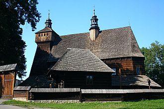 Doły Jasielsko-Sanockie - Image: Kosciol Haczow