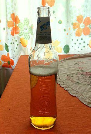 Beer in Armenia - A bottle of Kotayk Gold