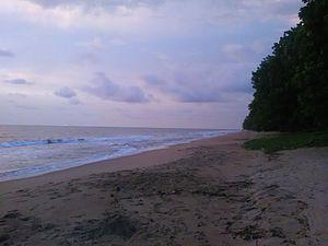 Kribi - Kribi Beach in the evening