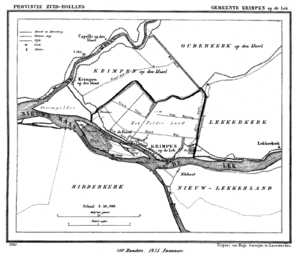 Krimpen aan de Lek - Krimpen aan de Lek in 1867.