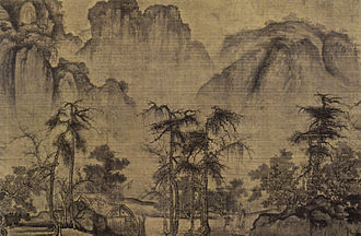 1070s in art - Guo Xi, Autumn in the River Valley,  c. 1072