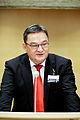 Kuupik Kleist, Regeringschef, Gronland talar vid Nordiska radet session i Stockholm 2009.jpg
