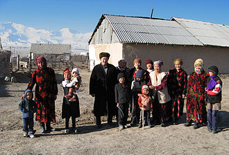Kyrgyzstan - Kyrgyz family in the village of Sary-Mogol, Osh Region