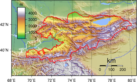 Kyrgyzstan's topography Kyrgyzstan Topography.png