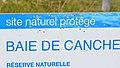 L'un des panneaux de la Réserve naturelle nationale de la baie de Canche aout 2017.jpg