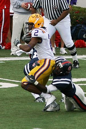 Demetrius Byrd - Byrd being tackled against Ole Miss.