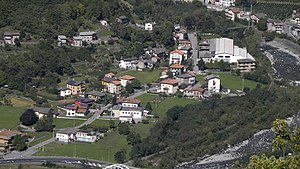 Ardenno - partial view of the town