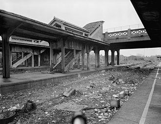 Lackawanna Terminal (Montclair, New Jersey) - Image: Lackawanna Terminal and Grove Street Bridge