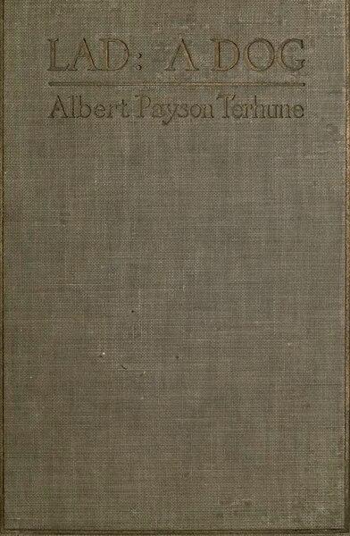 File:Lad, A Dog (1919) by Albert Payson Terhune.djvu