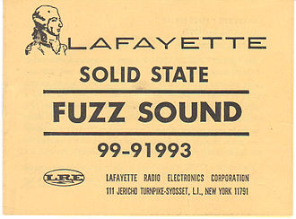 Lafayette Radio Electronics - Owner's manual for Solid State Fuzz Sound