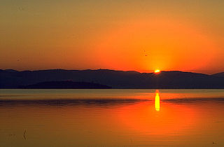 Lake Trasimeno lake in Umbria, Italy
