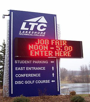 Lakeshore Technical College - Image: Lakeshore Technical College Sign