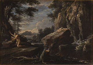 Landschap met Paulus de kluizenaar