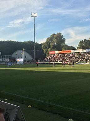 Landskrona BoIS - Malmö FC i en match på Landskrona IP, anden runde.