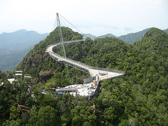 Langkawi Sky Bridge - A new platform being built in 2015 connecting SkyGlide  with the bridge