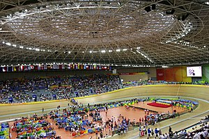 Laoshan Velodrome - Interior during the 2008 Summer Olympics