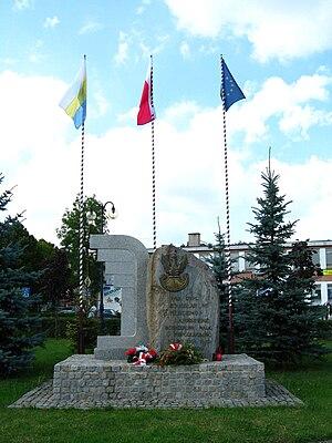 Łapy - LTC Nilski-Łapiński's memorial