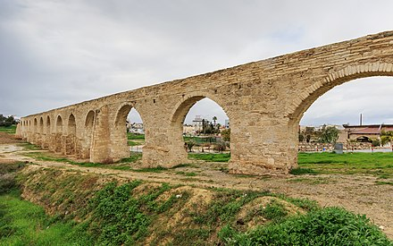 The Bekir Pasha Aqueduct was built by the Ottoman governor Ebubekir Pasha in 1747. It is considered to be the most prominent water supply ever built in Cyprus.