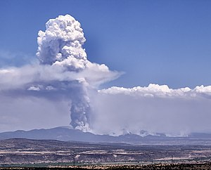 Las Conchas Fire - From Placitas, New Mexico, July 6, 2011.