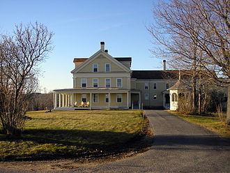 Wells National Estuarine Research Reserve - Laudholm Farm main building.
