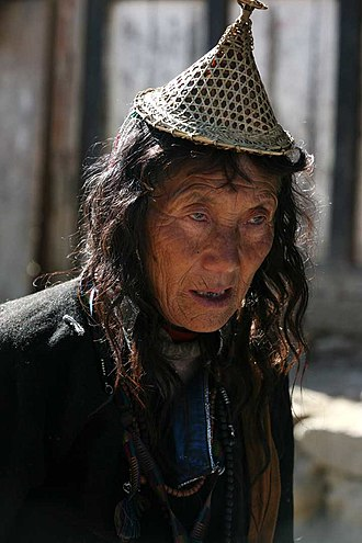 Laya dialect - Layap woman in Laya Gewog