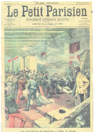 May Coup (Serbia) - Illustration of the May Overthrow published in 1903 in the French newspaper Le Petit Parisien