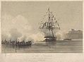 Le brig le Voltigeur Simulacre d'attaque par des Chaloupes et Canots, Rade de Brest le 30 Aout 1843 RMG PY0839.jpg